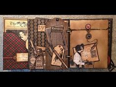 Graphic 45 Featured Artist: Anne Elisabeth Rostad, Part 2 - Graphic 45®; Learn how to make a Communique Mixed Media Album with this great video #graphic45