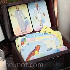 Mexican-Themed Wedding Cards - Guest can leave wishes for the newlyweds on Loteria cards.