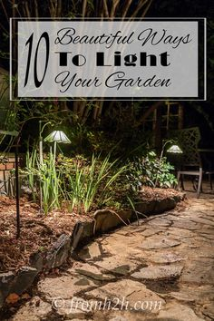 These outdoor lighting ideas are the BEST! I love all of these great ways to add landscape lighting to the garden. Now I know how to make my patio and yard more use-able after dark. I'm definitely doing #3! Pinning!!