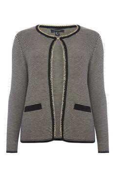Primark - Black Stripe Chain Trim Jacket Cardigan