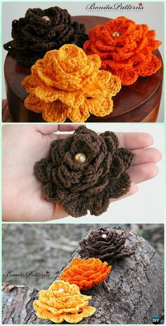 e73b5c106 Crochet 3D Flower Motif Free Patterns   Instructions