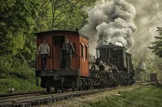 Shay steam engine pulling a log train by Mark Serfass - Photo 37124684 - 500px
