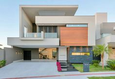 Living in a Modern Home with Spectacular Facade - Architecture Admirers Residential Architecture, Contemporary Architecture, Architecture Design, Amazing Architecture, Design Exterior, Facade Design, Ultra Modern Homes, Facade House, Style At Home