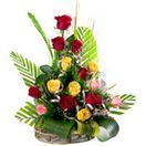 15 Mixed Roses Basket Available at : www.flowersgiftshyderabad.com/Anniversary-Gifts-to-Hyderabad.php