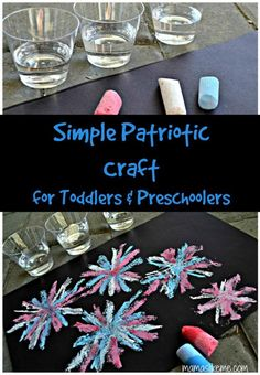 Mamas Like Me: Simple Patriotic Craft for Toddlers & Preschoolers