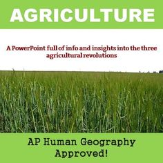 Great ppt for teaching about agriculture! Agricultural Revolution, Commercial Farming, Ap Human Geography, Green Revolution, Social Studies Worksheets, Studyblr, World History, One In A Million, Agriculture