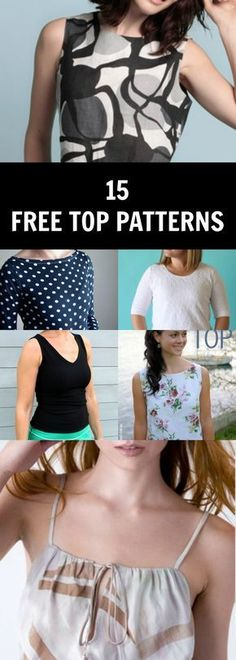 FREE SEWING PATTERNS: Summer tops and shirts - Free Sewing Patterns and Tutorials: | Free Sewing Patterns and Tutorials