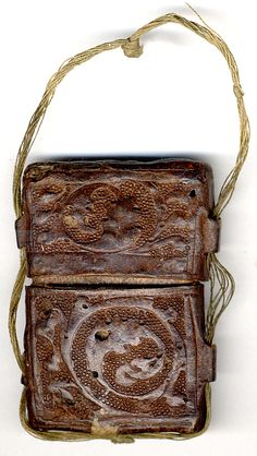 Case for Enamel Diptych, 14th century, British, Cuir bouilli (tooled leather)