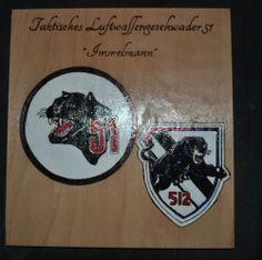 """Wappen """"Taktisches Luftwaffengeschwader 51 Immelmann""""  Letztes Exemplar - Ein Teil des Verkaufserlös geht zu Gunsten des Bund Deutscher Veteranen e. V."""