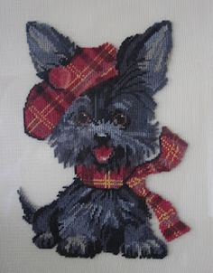 Scotty dog cross stitch