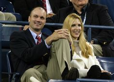 Former tennis player David Wheaton (L) and Conservative pundit Ann Coulter (R) attend the match between Amelie Mauresmo of France and Serena Williams during the U.S. Open at the USTA Billie Jean King National Tennis Center in Flushing Meadows Corona Park on September 4, 2006 in the Flushing neighborhood of the Queens borough of New York City.