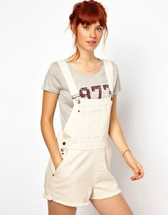 Shop Ganni Dungarees in Canvas at ASOS. Overalls Fashion, Fashion Outfits, Womens Fashion, Overalls Style, Fashion Trends, Short Overalls, Urban Fashion, Fashion Line, Cycling Outfit