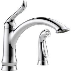 Delta Linden Chrome 1-Handle Deck Mount High-Arc Kitchen Faucet