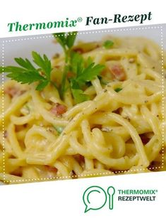 Spagetti Carbonara Spaghetti Carbonara by ClaudiaPa . A Thermomix ® recipe from the category other main courses on www.de, the Thermomix® Community. Carbonara saucePasta Carbonara All-In-OnShrimp spaghetti potty Spaghetti Carbonara Thermomix, Spagetti Carbonara, Carbonara Recept, Carbonara Sauce, Spagetti Recipe, Spaghetti Bolognese, Cooking Spaghetti, Pasta Recipes, Salad Recipes