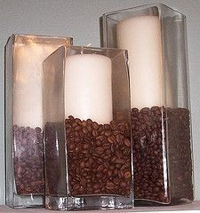 Vanilla candles + Coffee beans