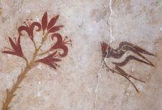Minoan wall-painting, Akrotiri, Thera. http://www.kenney-mencher.com/pic_old/aegean/Akrotiri_Spring_landscape.jpg
