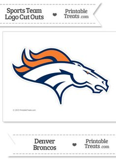 Large Denver Broncos Logo Cut Out From PrintableTreats Peyton Manning Go