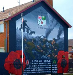 36th Ulster Division Mural ... Belfast Murals, Lest We Forget, Northern Ireland, Division, Wall Murals, The Past, Painting, Art, Wallpaper Murals