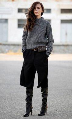 Street-Style-Bermuda-Pants-Wide