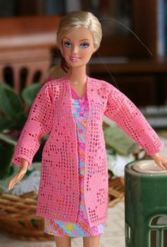 Advanced Embroidery Designs - FSL Crochet Cardigan for 12-inch Dolls