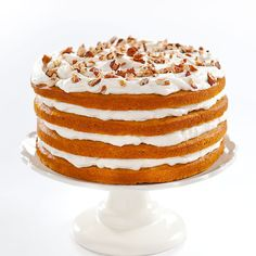 For an impressively tall cake that combines two of our favorite fall flavors—we introduce: Maple-Pumpkin Stack Cake—the show-stopping, sweet-tooth satisfying cake of the year.