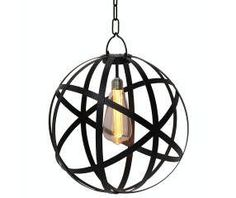 Gerson Company Black Metal Cage Battery Operated Pendant