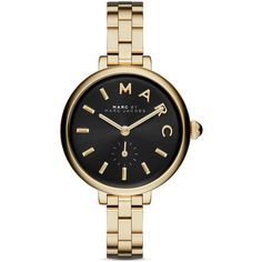 Marc By Marc Jacobs Sally Watch, 36mm (6.085 CZK) ❤ liked on Polyvore featuring jewelry, watches, gold, gold jewellery, yellow gold watches, marc by marc jacobs watches, gold jewelry and gold watches
