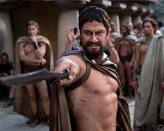 "HQ Gerard Butler as King Leonidas in ""300"" - 2007"