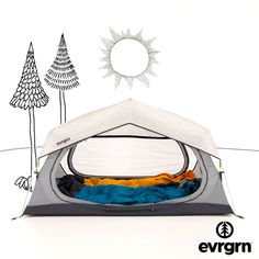 It's your personal skylight to the stars. With a super roomy interior, seamless mesh roof and an adjustable fly, the evrgrn starry night tent makes sure that the best view in the campground is from inside your tent.