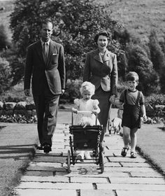 James Reid photograph showing the Queen and the Duke of Edinburgh with the Prince of Wales and Princess Anne at Balmoral from the exhibition Long to Reign Over Us
