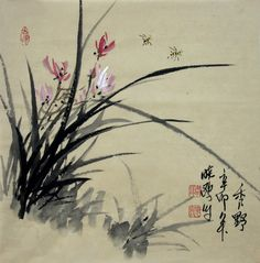 watercolor orchids | Chinese Painting :Orchid