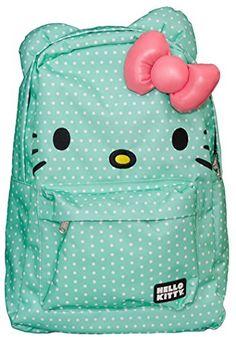 Loungefly Hello Kitty Green & White Polka Dot Backpack