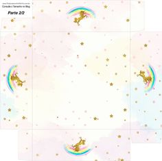 Caixa bombom Fundo Unicórnio Kit Festa 1 Girl Birthday Themes, Kids Party Themes, Unicorn Birthday Parties, Unicorn Party, Unicorn Printables, Free Printables, Box Invitations, Printable Box, Troll Party