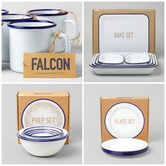 Falcon enamel kitchenware sets! want want want for our little farm!