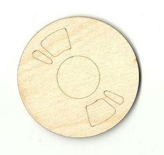 Vinyl Record Unfinished Laser Cut Wood Shape MSC11