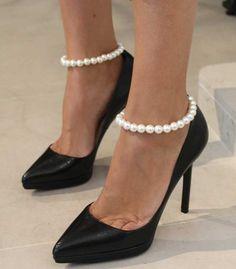 Andrew Gn Pearl Ankle Bracelet