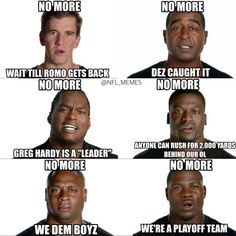 Check out the best NFL memes from week 14 Funny Nfl, Funny Memes, Jokes, Greg Hardy, Dallas Cowboys Funny, Nfl Memes, Giants Football, All Team, Football Pictures