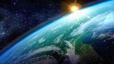 1920x1080 Wallpaper earth, sun, planet, surface, stars
