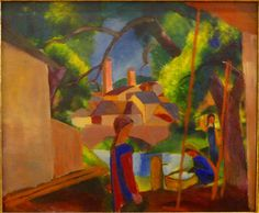 August Macke - Kinder am Brunnen (2) (1914) - Bonn, Kunstmuseum | Flickr - Photo Sharing!