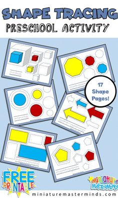 Shape Tracing Practice Activity For Toddlers and Preschoolers
