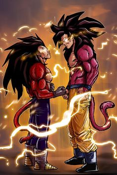 Super saiyan 4 Goku and Vegeta
