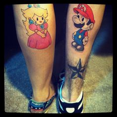 30 Brilliant Matching Tattoos, Including Superheroes, Animals, and even an Avocado
