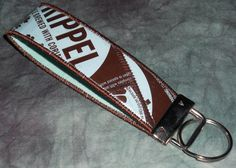 Wristlet KeyChain from Recycled New Belgium Trippel beer labels by squigglechick, $12.00
