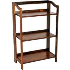 stratford 3shelf folding bookcase found at jcpenney - Folding Bookcase