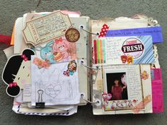 Junk journal birthday pages