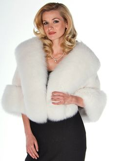 White mink is the ultimate in glamour! Throw it over your little basic black, your most elegant ballgown or your classic dinner suit and and you'll see how it enhances and adds to every special occasion! Fur Trimmed Cape, Fur Cape, Red Heads Women, Winter Poncho, Cashmere Cape, Poncho Coat, Cute Coats, Fur Clothing, Capes For Women