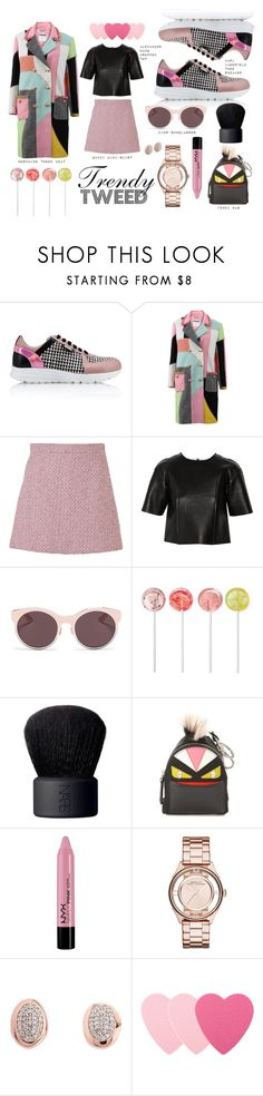 """""""Trendy Tweed Pink Love"""" by iarda ❤ liked on Polyvore featuring Karl Lagerfeld, Moschino, Gucci, T By Alexander Wang, Christian Dior, NARS Cosmetics, Fendi, NYX, Marc by Marc Jacobs and Links of London"""