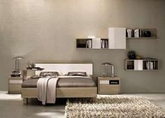Bedroom Design Decorating Ideas for Men with Bookshelves