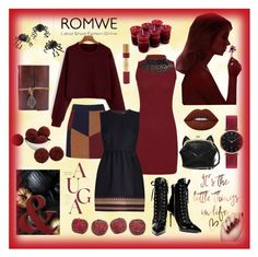 """""""With ROMWE"""" by explorer-14673103603 ❤ liked on Polyvore featuring LaMarque, RED Valentino, Giuseppe Zanotti, Lime Crime, Meri Meri, Amara, Fine & Candy, Amrita Singh and Abbott Lyon"""