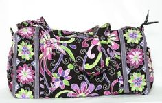 Vera Bradley Small Duffel Purple Punch Gym bagTrave Duffle Authentic New  #FOLLOWITFINDIT